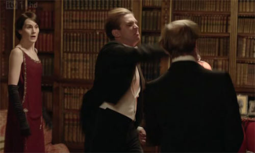 Sir Richard and Matthew Crawley