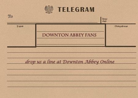 telegram to downton abbey