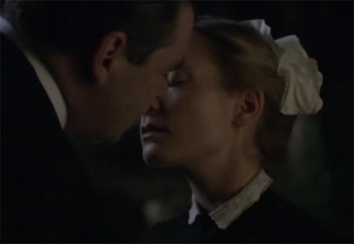 Anna and Bates almost kiss