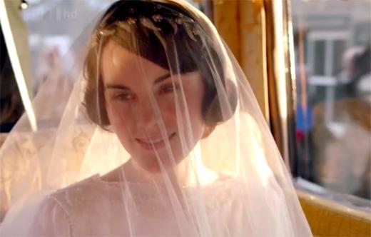 Lady Mary in wedding veil