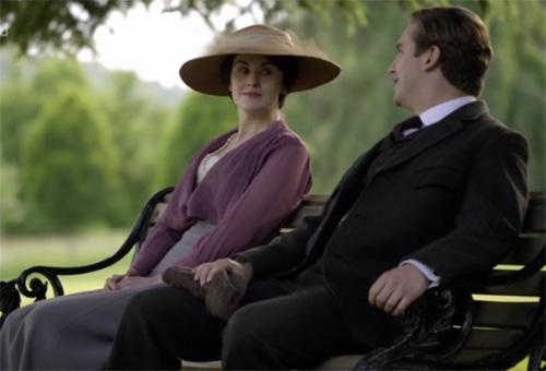 Matthew and Mary talk at Downton