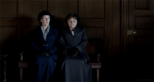 Mrs Hughes and Mrs Patmore at the doctor's office