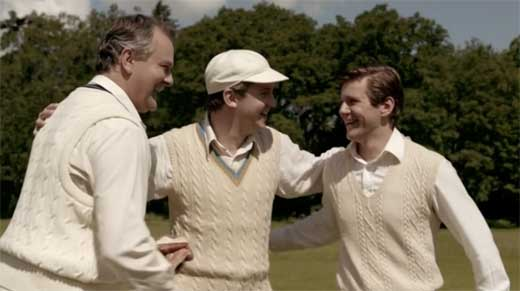 Matthew Crawley, Robert Grantham and Tom Branson