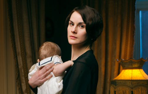 Lady Mary with Downton heir George