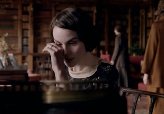 Lady Mary cries, Downton Abbey